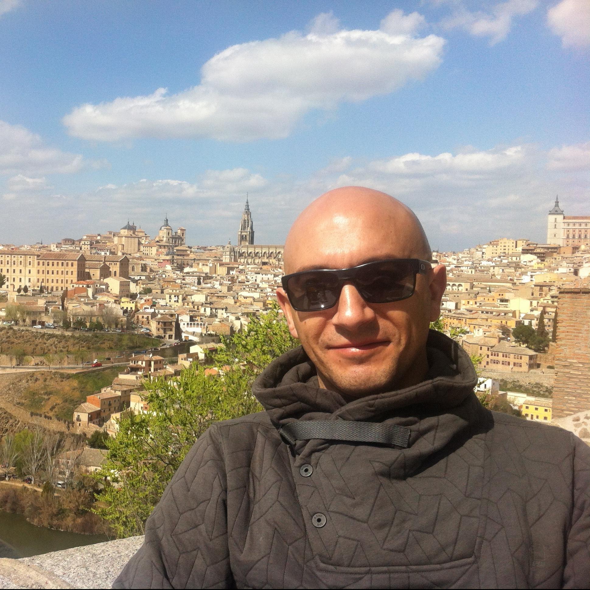 Adolfo Ferrero is a tour guide for Toledo (Spain)