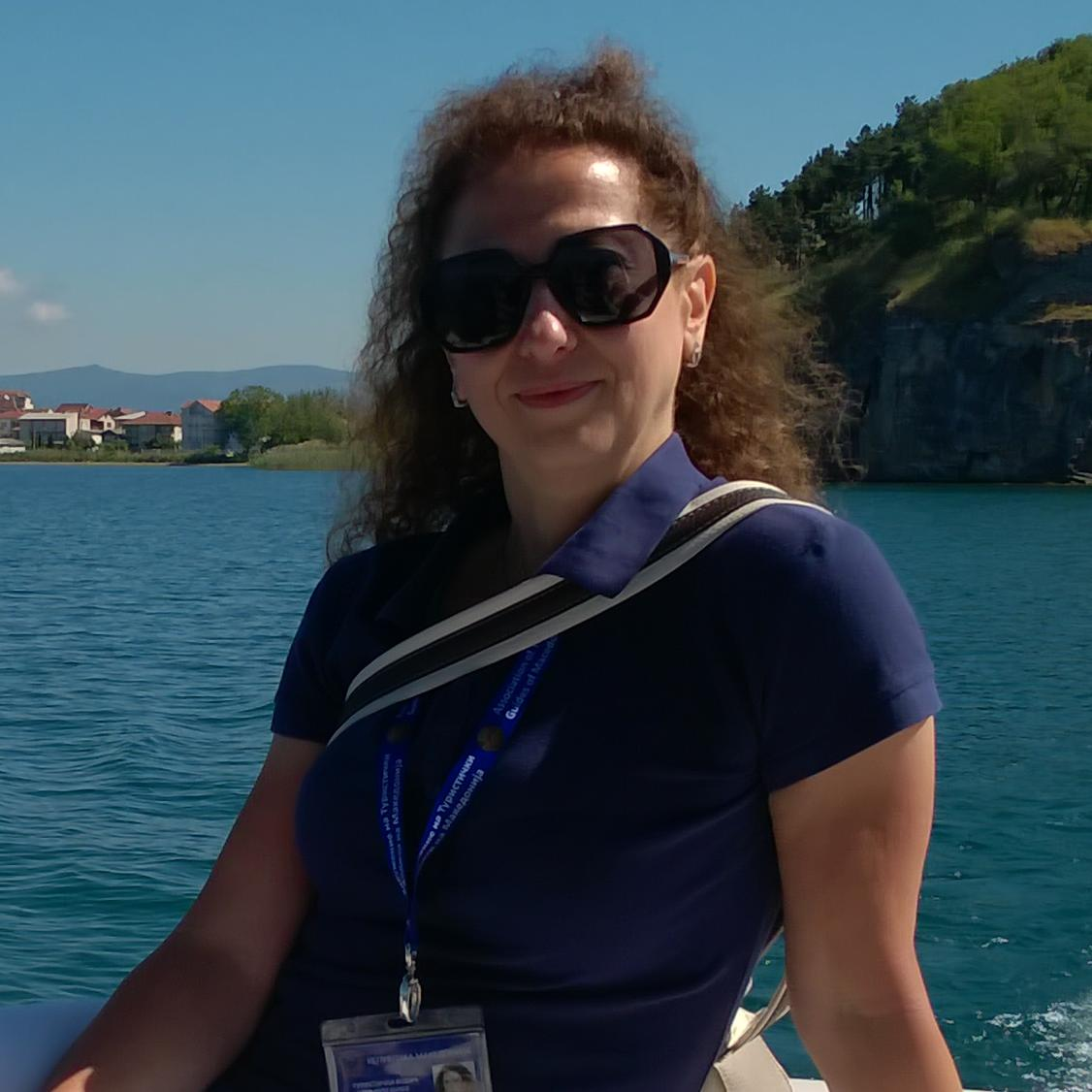 Liljana Danilova is a local tour guide for Skopje (Macedonia)