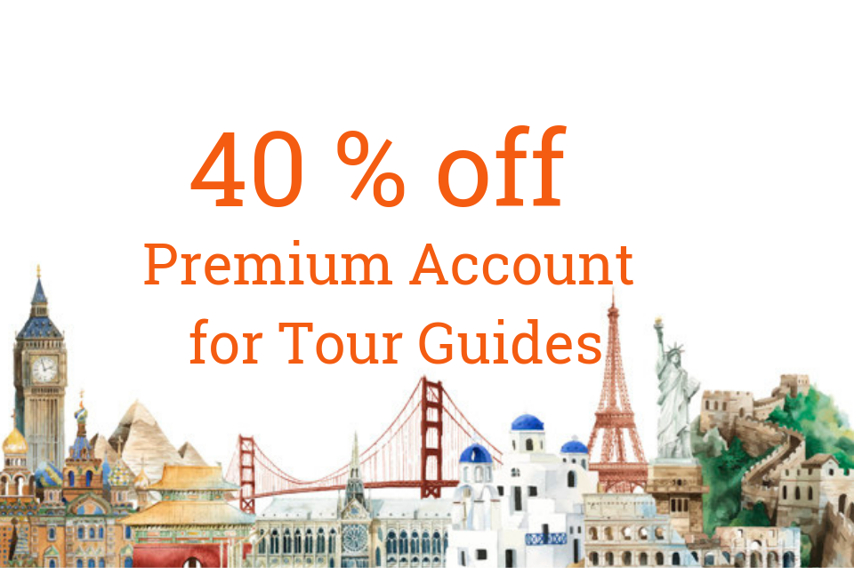 40% OFF Premium Account for Tour Guides