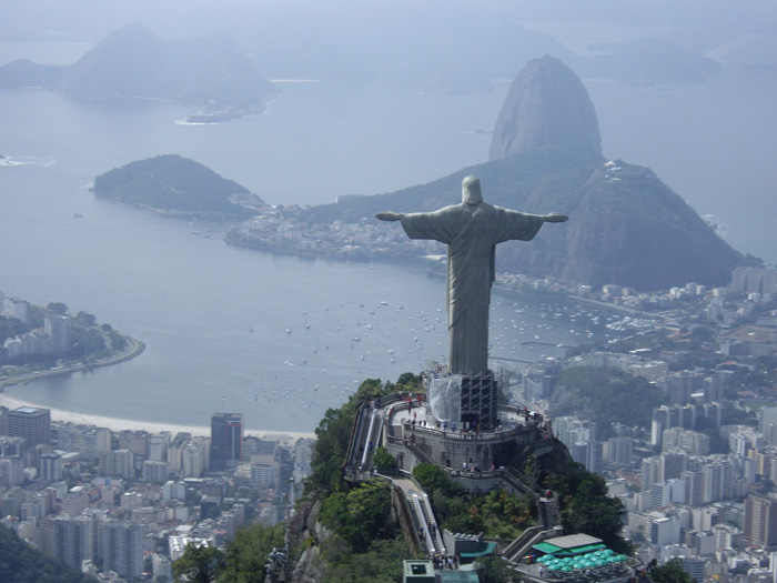 Сhrist the redeemer is a statue of Jesus Christ in Rio de Janeiro Brazil