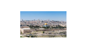 Jerusalem with Via Dolorosa, Wailing Wall and Mount of Olives
